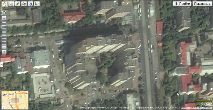 МЖК. Спутниковый снимок Луганска на Яндекс-Картах.