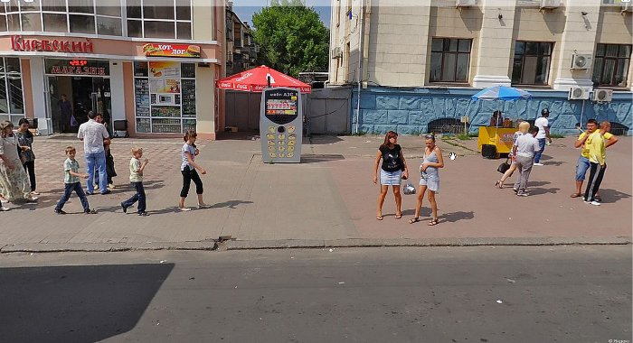 Панорамы Луганска: остановка Центральный рынок.