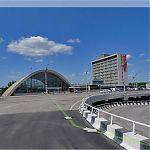 Панорама Луганска: ЖД Вокзал с эстакады.