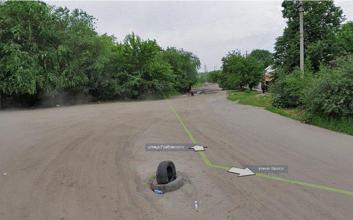 Панорама Луганска: ул. Щорса.