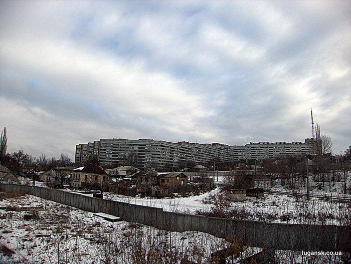 Вид с эстакады, Луганск.