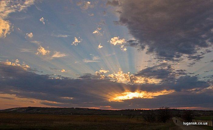 Закат над Сабовкой, по Луганском.