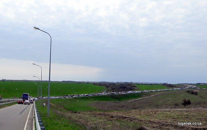 Реконструкция боя за освобождения Луганска, пос. Хрящеватое, 21 апреля 2013 г.