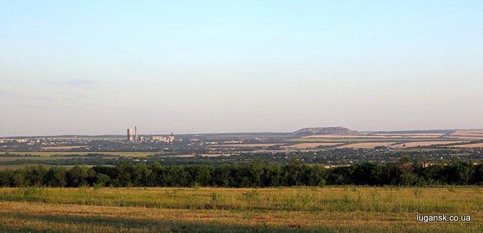 Вид на пгт. Юбиленый, Луганск.