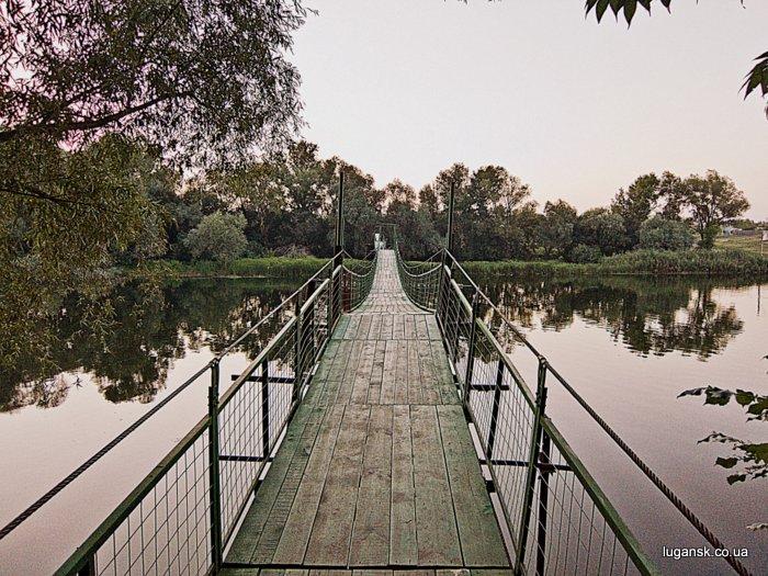 Пешеходный мост из Желтого в Лобачево через р. Северский Донец.
