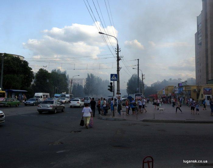 На ул. Оборонная задымление, Луганск.