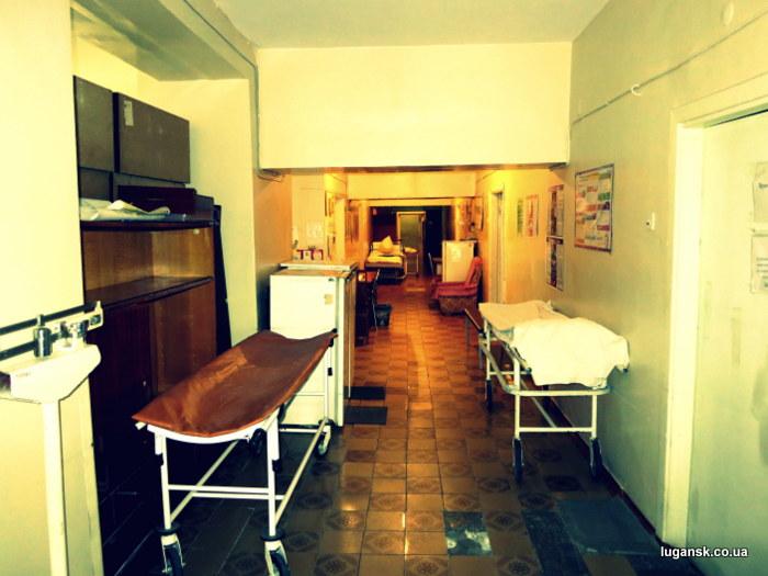 Отделение в луганской областной больнице.
