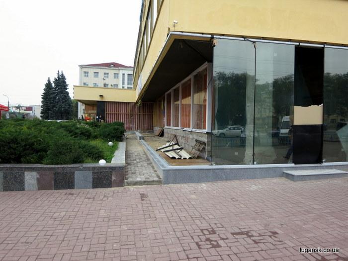 Здание гостиницы Луганск.
