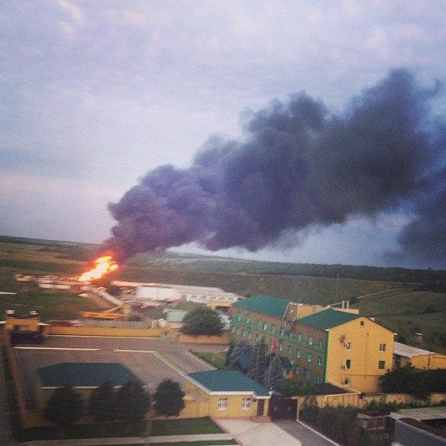 Пожар в погранчасти Луганск.