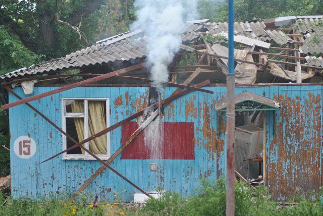 Турбаза Дубрава после авиаобстрела, Станица Луганская, Луганск.