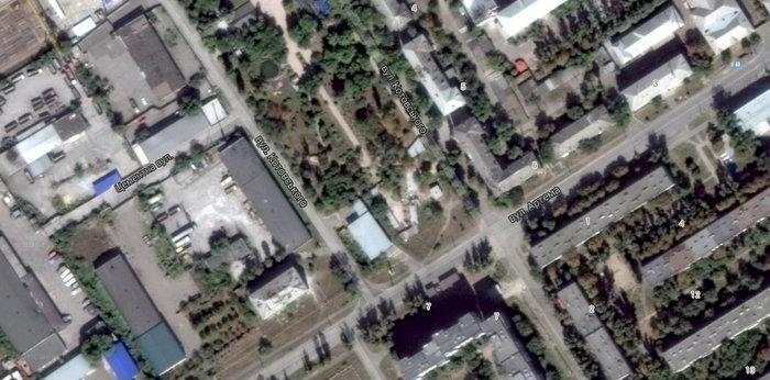 Разрушения на Юбилейном, Луганск.