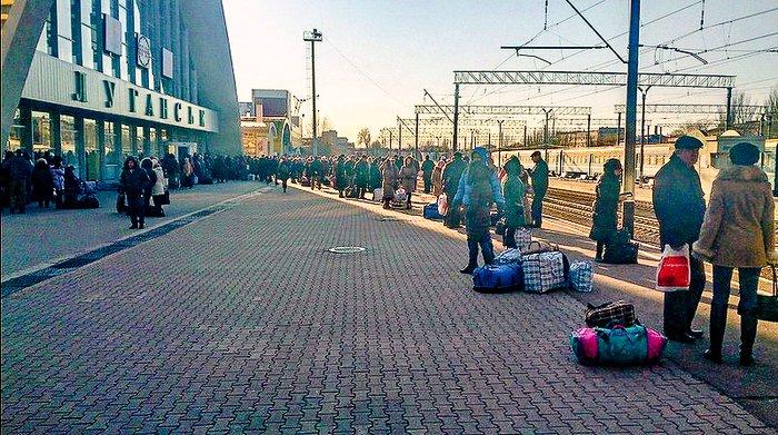 Поезд Луганск-Киев, посадка, 20 ноября 2014 г.