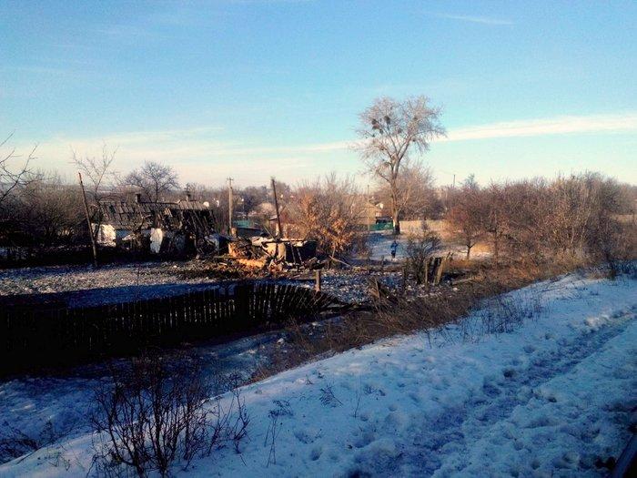 Горское, обстрел, разрушения 24 января