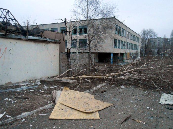 Первомайск, разрушения обстрел