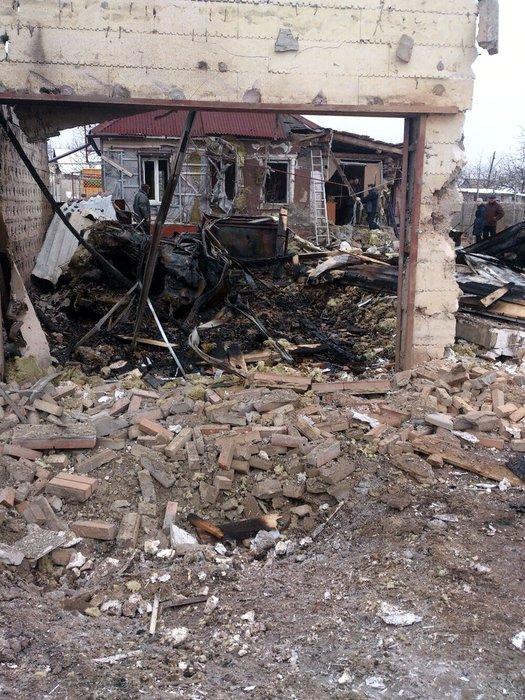 Стаханов обстрел разрушения 11 февраля