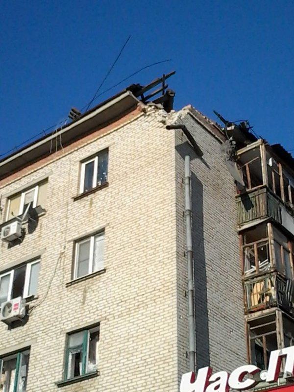Луганск обстрел разрушения 12 февраля