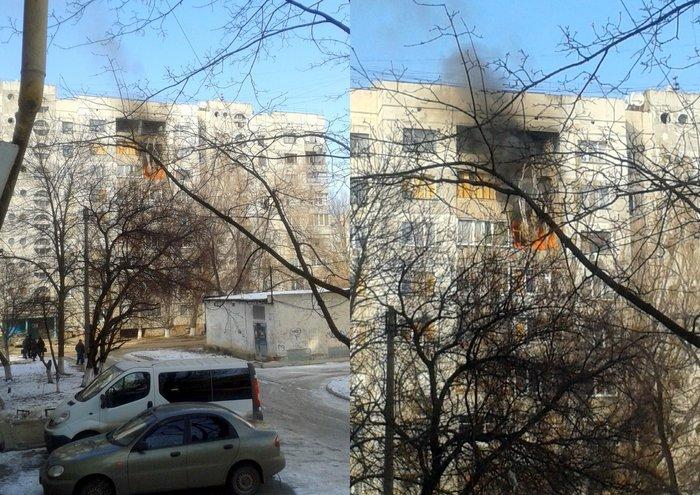 Пожар Луганск сегодня 20 февраля