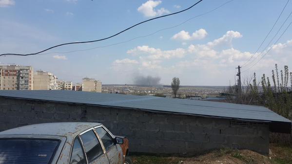 Луганск Пожар 25 апреля