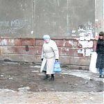 Ручей водопроводной воды на пос. Юбилейный, кв. Шахтерский