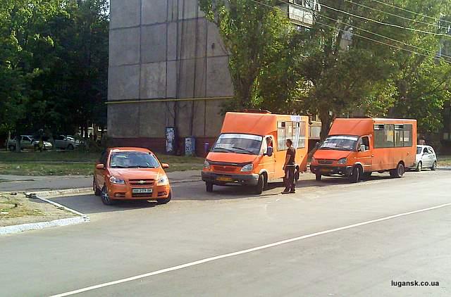 Оранжевые маршрутки Луганска