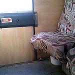 Сломанное заднее сидение в маршрутке. Луганск