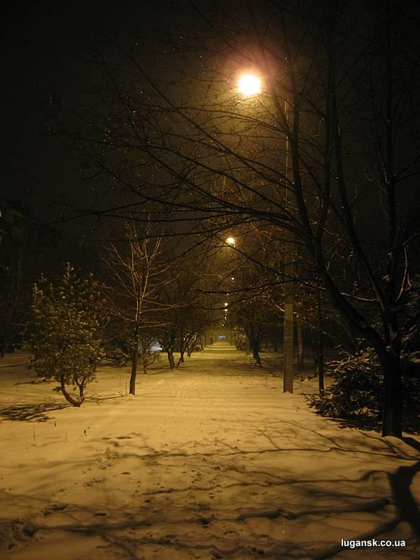Аллея на Юбилейном, Луганск