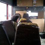 Убитые кресла в маршрутке. Луганск