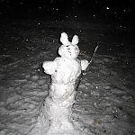 Снеговик-заяц